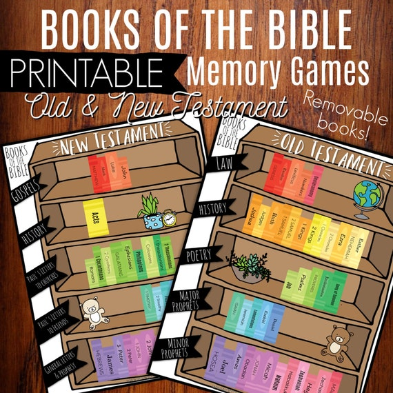 photograph regarding Books of the Bible Games Printable titled Guides Of The Bible Printable Memory Recreation Offer, Study Previous Fresh new Testomony, Little ones Bible Game, Homeschool Printable, Sunday College Lesson