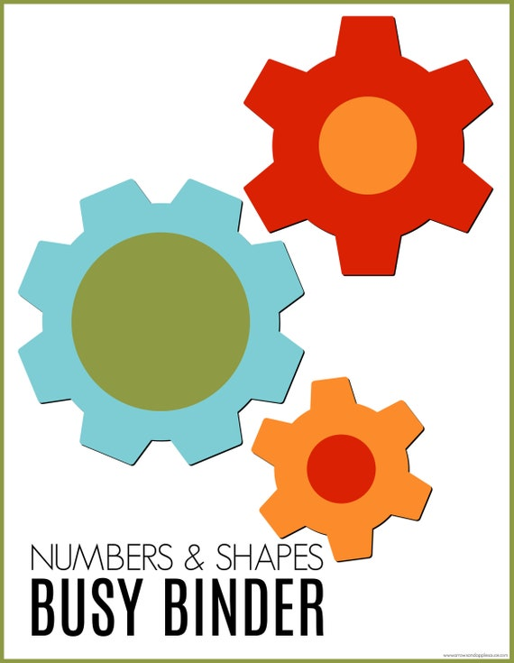 Numbers Shapes Busy Binder Printable Preschool Curriculum Busy Book Counting Game Shapes Dice Game Kindergarten Homeschool Activity