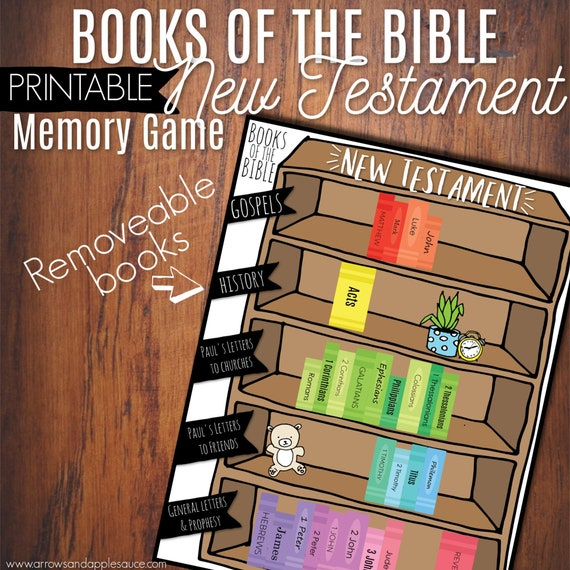 New Testament, Books Of The Bible Game, Kids Bible Activity, Sunday School,  Fun Homeschool Activity, Bible For Kids, Christian Kids Games,