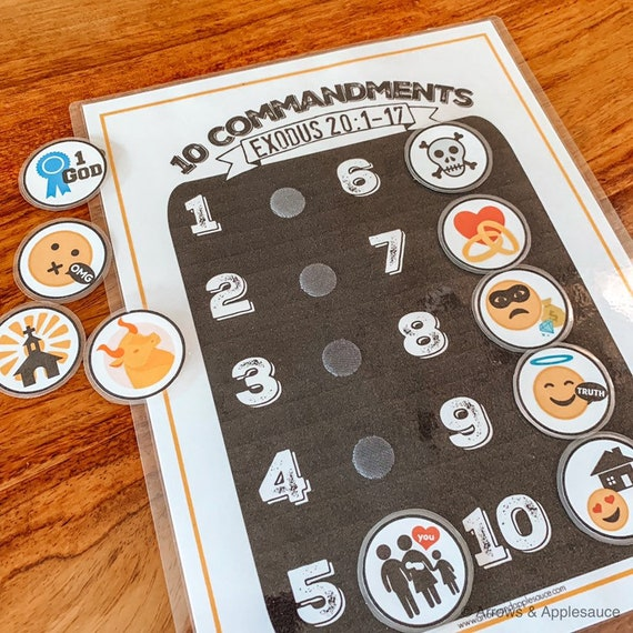 photo regarding Printable Memory Activities for Adults referred to as 10 Commandments Printable Memory Sport, Youngsters Match, Bible Verse, Informative Instrument, Homeschool, Sunday College, Preschool, Emojis