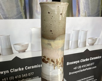Tall Vase Sunset Beachscape. .  One of a kind special piece. Collectors item