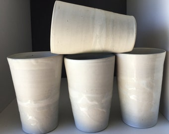 Porcelain beakers with a delightfully smooth glaze