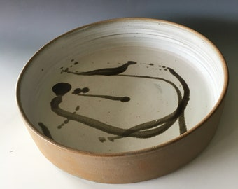 Free delivery in Australia: Large Platter High fired to 1300.  Suitable for baking.  35cm