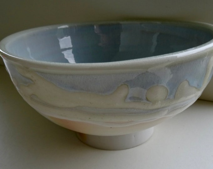 SOLD SOLD Stunningly simple and elegant porcelain soda fired bowl