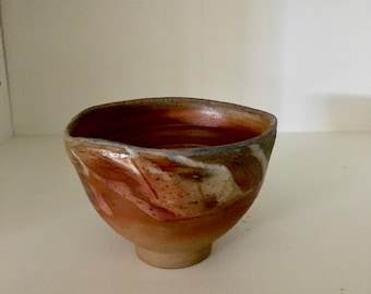 One of a kind 'rutile' test woodfired drinking cup