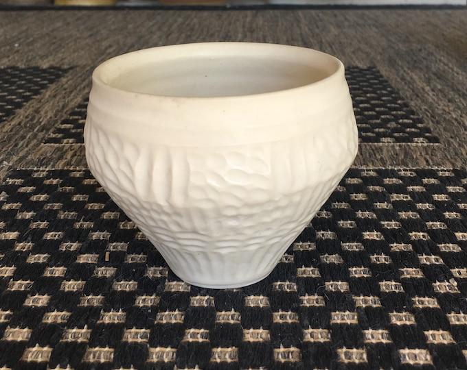 SOLD SOLD Bronwyn Clarke Ceramics: Porcelain carved cup