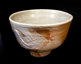 Free delivery in Australia. One of a kind open tea bowl.  Soda fired Yunomi.