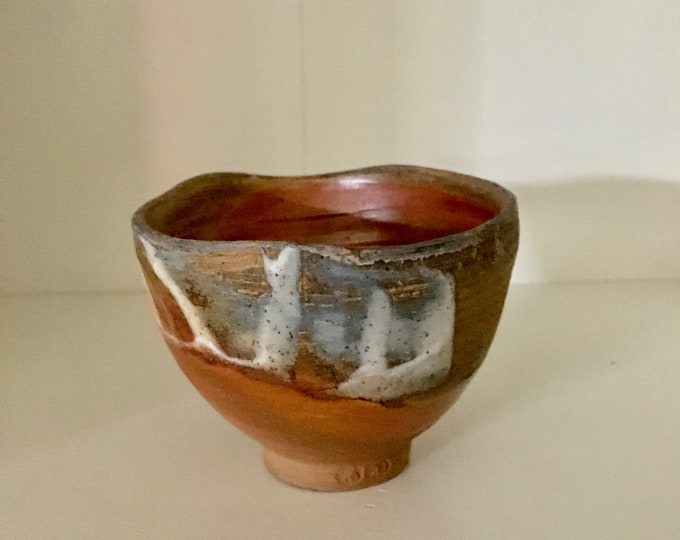 Free delivery in Australia. One of a kind 'rutile' test woodfired drinking cup