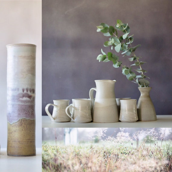 Coffee/Tea Mugs.  Generous size, smooth to the touch glazes.
