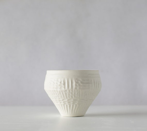 Bronwyn Clarke Ceramics: Porcelain carved cup