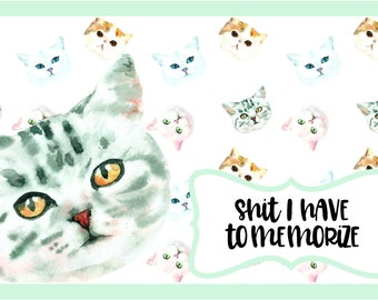Cat Lover's Study Cards