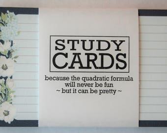 Study Cards in Floral Print