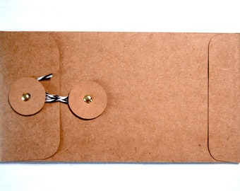 Kraft Envelope with Twine Closure Kit