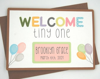 New Baby Card - Personalized