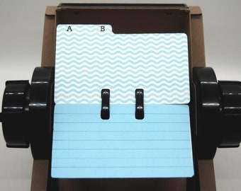 Rolodex Dividers - 2 Letters Per Card - Multi Pattern