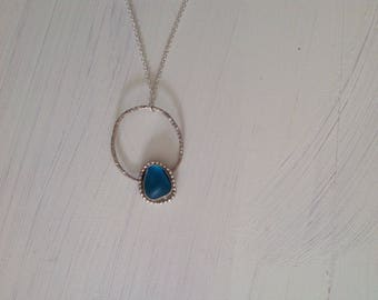 Sterling Silver bezeled Seaglass necklace