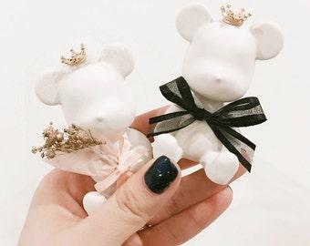 Lovely Wedding Bears Plaster Diffuser/Air freshener/Bananacfavor/Crwon/Tiara