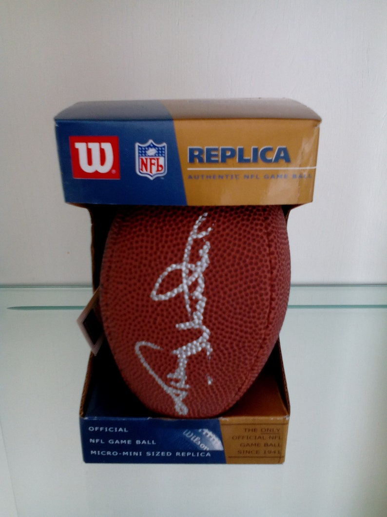 size 40 14cc6 14ab2 Autographed Miniature NFL Football - Johnny Unitas