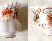 CREAMER SUGAR BOWL. Vintage Royal Albert Heritage china