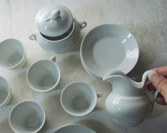 Vintage country house china from the estate of Sir John and Lady Smith. Petite china set