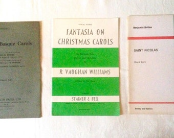 OLD CHRISTMAS CAROLS assorted vintage music sheets. Holiday singing, celebrations, family reunions