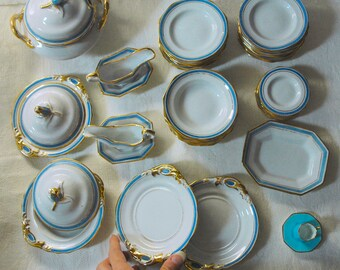 Miniature old china service from the country house estate of the late Sir John and Lady Smith. Vintage / antique pieces