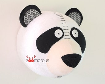 Panda Zoomorous animal head trophy hunting wall decoration deco kids mounted animal head trophy faux taxidermy