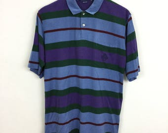 1aafa355 Vintage 90s Polo Tennis Wimbledon Shirt Retro Striped Size M Ralph Lauren RL