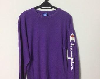 759c5cb7 Vintage 80s Champion T Shirt Purple Size M Hip Hop Swag Streetwear