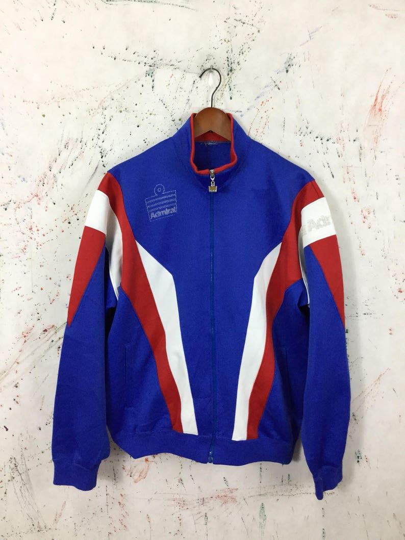 abec0156f7b7d Vintage 90s Admiral Sport Trainer Jacket Size L Retro Track