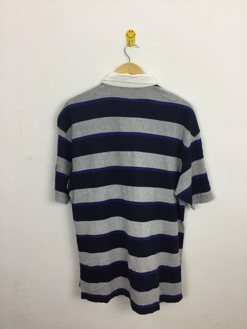 Vintage 90s Pepsi Rugby Retro Striped Shirt Size L