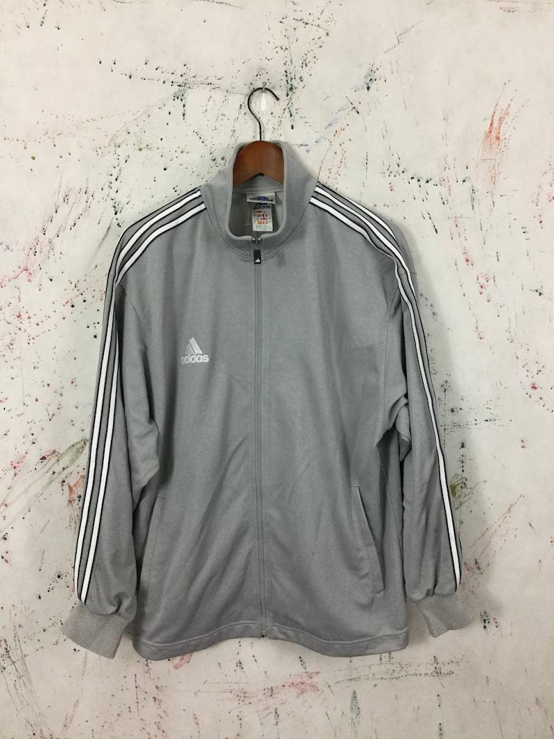 a73a1c60c81f8 Vintage 90s Adidas Track Trainer Retro Jacket Size M