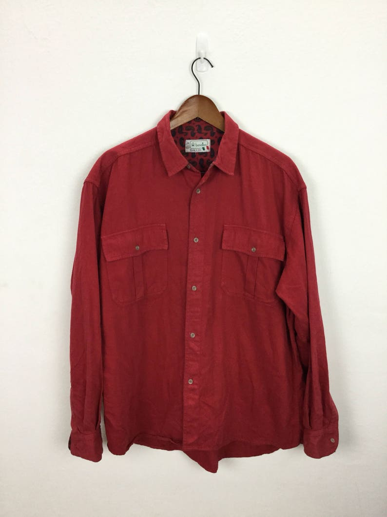 Vintage Benetton Italy Oxfords Shirt Size XL
