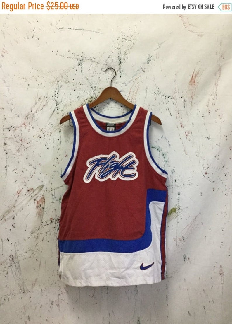 02a84bc6a795 SALE 25% Vintage Nike Flight Basketball Tanks Shirt 90s Hip
