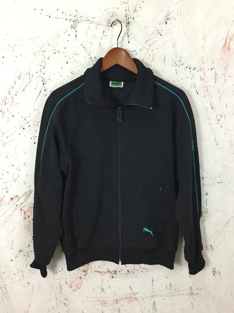 c8469b633de16 Vintage 90s Puma Track Trainer Jacket Sport Size L Retro Style