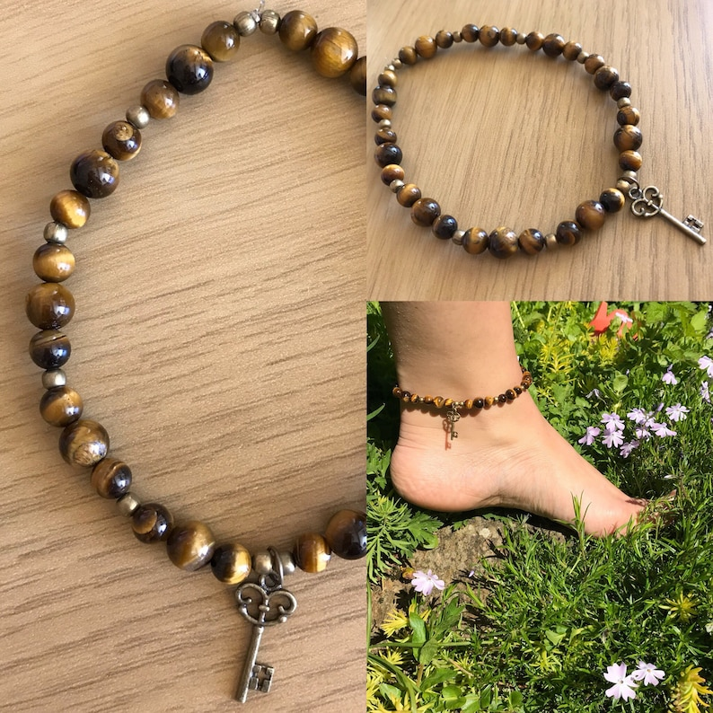 Tiger Eye Grounding and Confidence Anklet