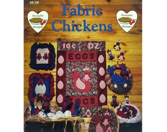Fabric Chickens, Sewing Patterns, Country Theme