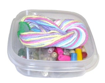 Kid's Beading Kit, Jewelry Kit, Macramé Kit