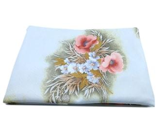 Flower Print Vintage Fabric, Heavy weight Fabric, Craft Fabric