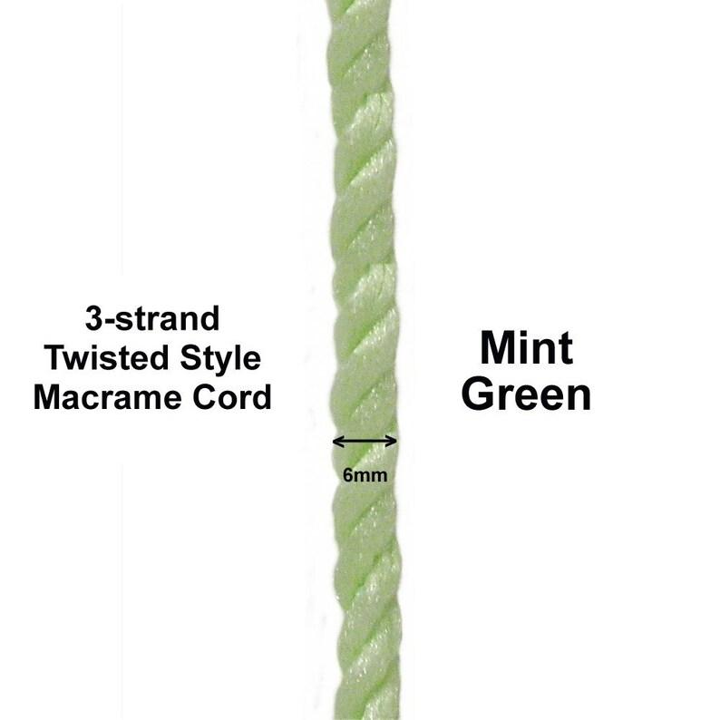 6 mm Mint Twist Cord