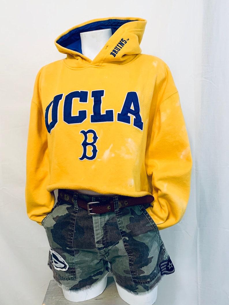 UCLA Bruins Upcycled retro crop top Hoodie M