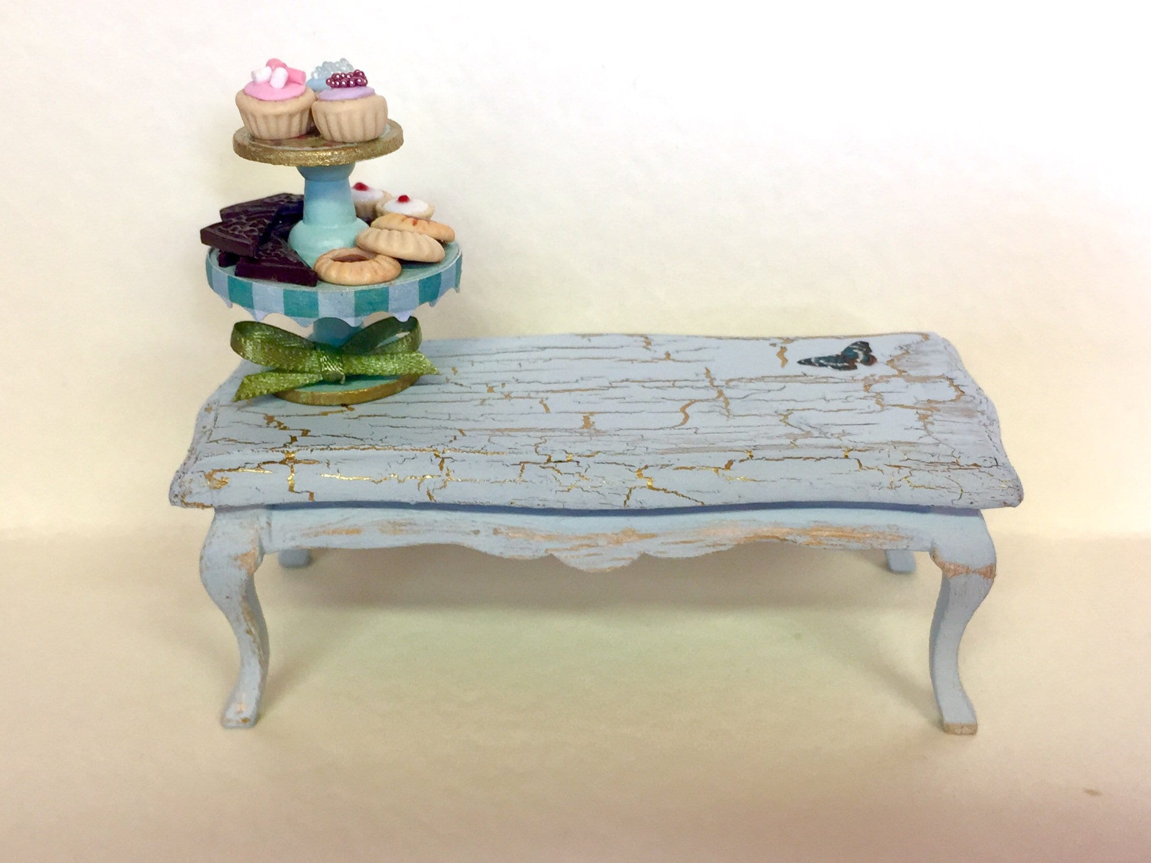 Doll House Furniture Miniature Coffee Table Dolls House Etsy