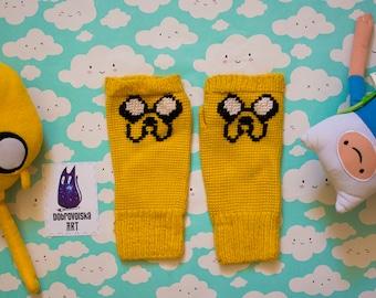 Adventure time handmade mittens