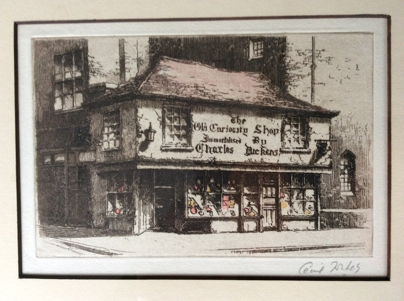 neues Hoch großhandel online echt kaufen Cecil Forbes Signed   The Old Curiosity Shop   Charles Dickens    Hand-Tinted Etching Proof