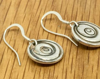 Silver rose drop earrings, Rose drops, Handmade silver rose drop earrings, silver, handmade, rose, drop, earrings, matching jewellery