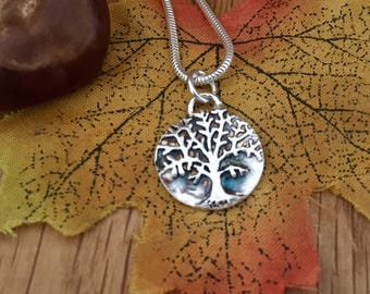 Tree-Of-Life Pendant, Life's Tree Necklace, Tree Of Life Necklace, Silver Tree Of Life, Birthday Gift, symbol of strength, symbol of love
