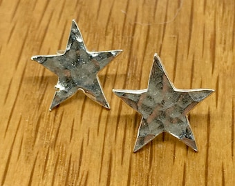 Silver star studs, star studs, Silver star earrings, star earrings, Pure silver, stud earrings, silver studs, handmade, silver stars