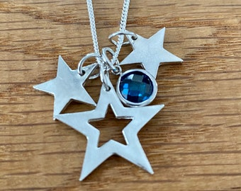 Pretty Silver star stacking necklace, stacking necklace, silver star, personalised silver necklace, gift for mum, personalised present
