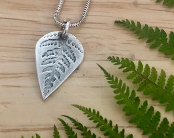 Silver Fern Pendant and Earring Jewellery Set, Fern jewellery, Fern Pendant, Fern Earrings, Silver Fern Jewellery, Pretty jewellery set