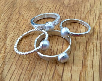Pearl ring, Pearl, Swarovski pearl, Pretty Pearl ring, Pearl jewellery, swarovski, sterling silver, silver pearl ring, june birthstone, ring